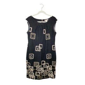 Jonathan Martin Geometric Print Shift Dress Sz 14